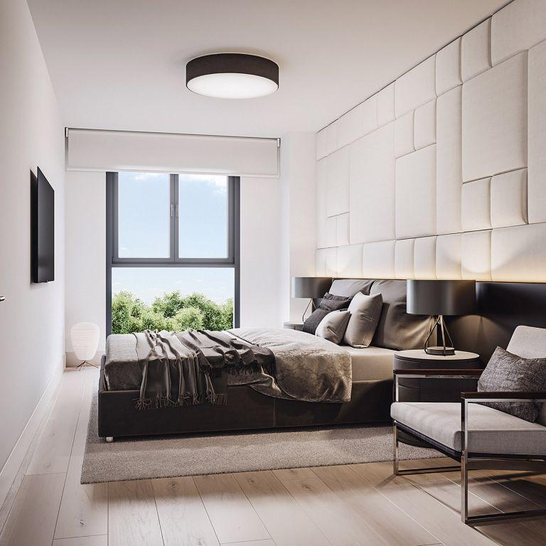 Dormitorio pisos obra nueva Oleiros Isla de Santa Cruz